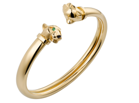 Panthère de Cartier bracelet Bracelet, 18K yellow gold, tsavorite garnets, onyx